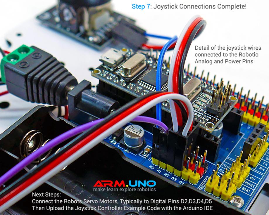 Arduino Joystick Servo Motor Robot Arm Control Tutorial